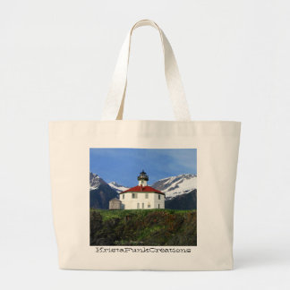 Eldred Rock Lighthouse; Customizable Large Tote Bag