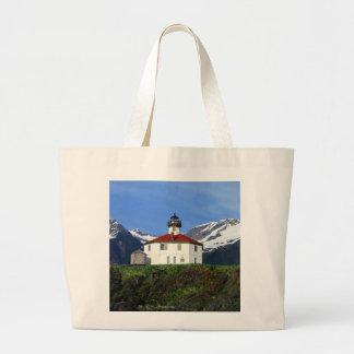 Eldred Rock Lighthouse Large Tote Bag