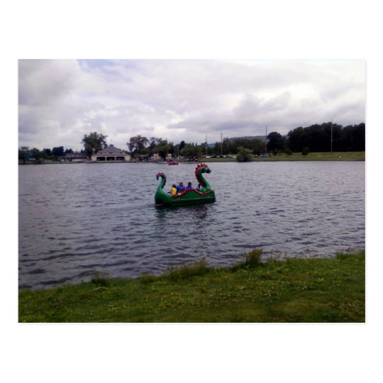 Eldridge Park Dragon Boat in Elmira, NY Postcard