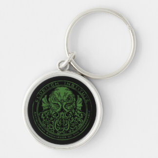 Eldritch Institute Silver-Colored Round Keychain