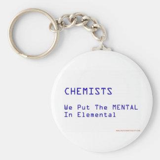 ele-Mental Basic Round Button Keychain