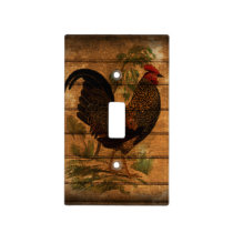 Eleagnt Rustic Vintage Country Rooster Kitchen Light Switch Cover