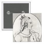 Eleanor de Aquitania Pin Cuadrado