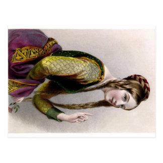 Eleanor de la postal de Aquitania