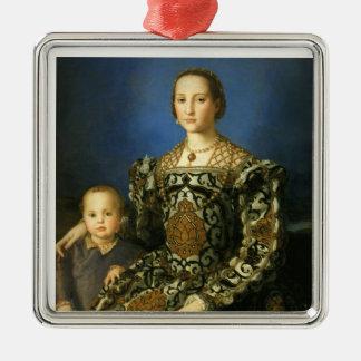 Eleanor del ornamento de Toledo Adorno Navideño Cuadrado De Metal