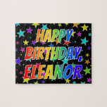 "[ Thumbnail: ""Eleanor"" First Name, Fun ""Happy Birthday"" Jigsaw Puzzle ]"