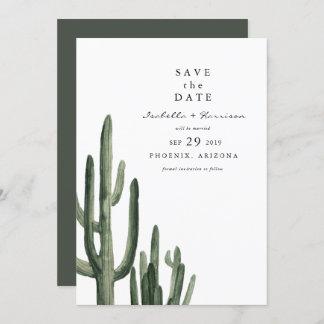 Eleanor - Minimal Saquaro Cactus Save the Date Invitation