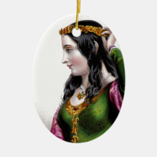 Eleanor of Provence Oval Ornament