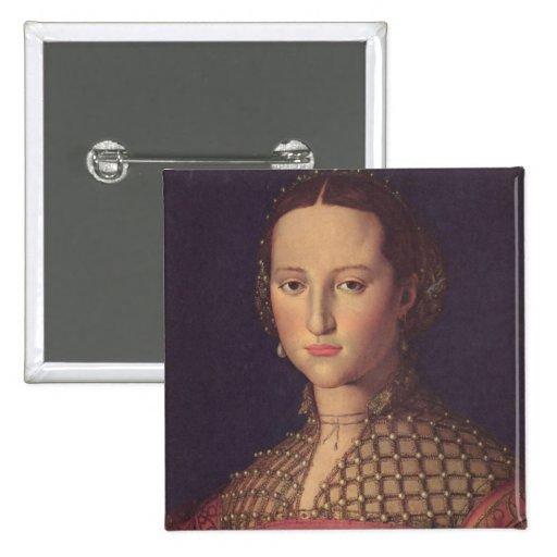 Eleanor of Toledo Square Button