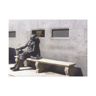 Eleanor Rigby Statue, Liverpool, UK. Canvas Print
