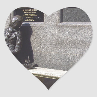 Eleanor Rigby Statue, Liverpool UK Heart Sticker