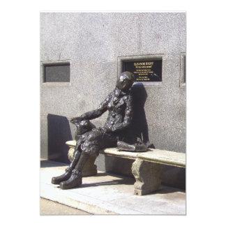 Eleanor Rigby Statue, Liverpool, UK. 13 Cm X 18 Cm Invitation Card