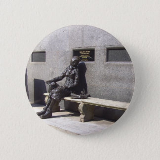 Eleanor Rigby Statue, Liverpool, UK. Pinback Button