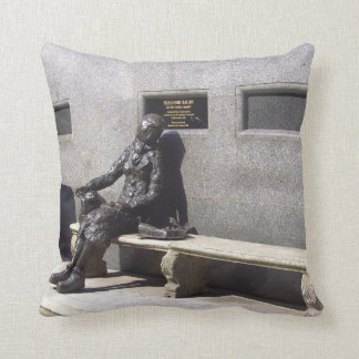 Eleanor Rigby Statue, Liverpool, UK. Throw Pillow