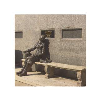 Eleanor Rigby Statue, Liverpool, UK. Wood Print