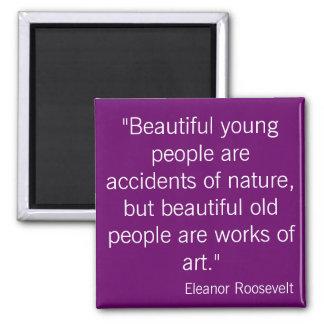 Eleanor Roosevelt 2 Inch Square Magnet