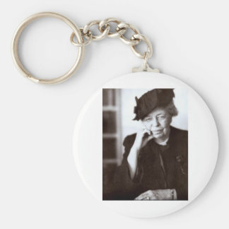 Eleanor Roosevelt Basic Round Button Keychain