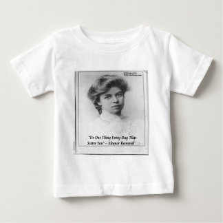 """Eleanor Roosevelt """"Do Something Scary"""" Quote Tee Shirt"""
