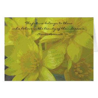 Eleanor Roosevelt Dreams Quote Graduation Card