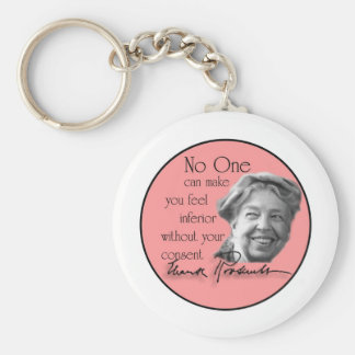 Eleanor Roosevelt - First Lady of the World Keychain