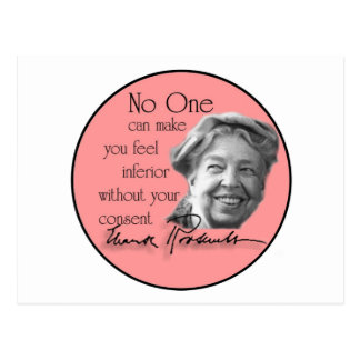 Eleanor Roosevelt - First Lady of the World Postcard