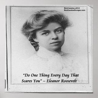 Eleanor Roosevelt joven hace algo poste asustadizo Póster