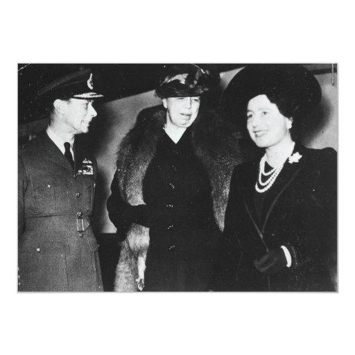 Eleanor Roosevelt King George VI Queen Elizabeth 5x7 Paper Invitation Card