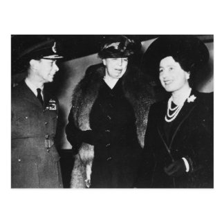 Eleanor Roosevelt King George VI Queen Elizabeth Postcard