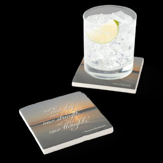 Eleanor Roosevelt New Day Motivational Quote Stone Coaster