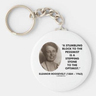 Eleanor Roosevelt Pessimist Optimist Quote Key Chains