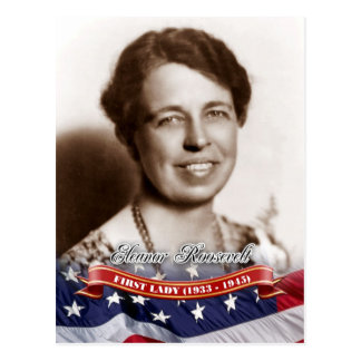 Eleanor Roosevelt primera señora de los E E U U Tarjeta Postal