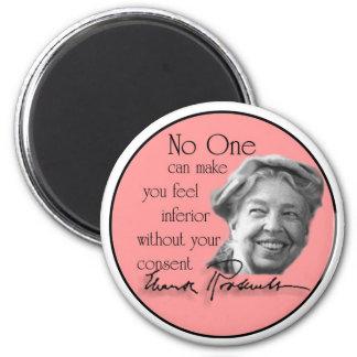 Eleanor Roosevelt - primera señora del mundo Imán Redondo 5 Cm
