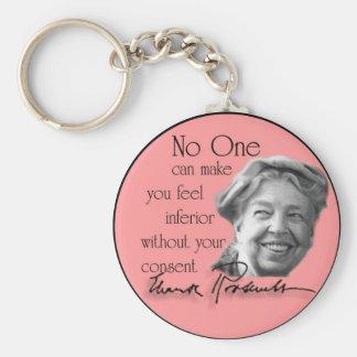 Eleanor Roosevelt - primera señora del mundo Llavero Redondo Tipo Pin