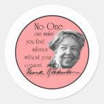 Eleanor Roosevelt - primera señora del mundo Etiquetas Redondas