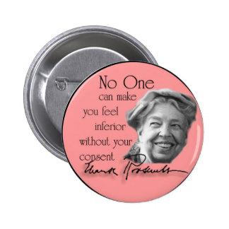 Eleanor Roosevelt - primera señora del mundo Pin Redondo De 2 Pulgadas