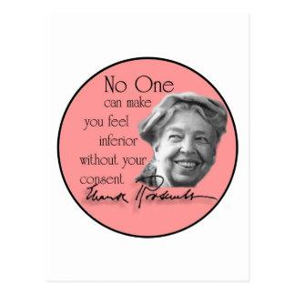 Eleanor Roosevelt - primera señora del mundo Postales