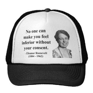 Eleanor Roosevelt Quote 1b Trucker Hat