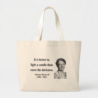 Eleanor Roosevelt Quote 3b Jumbo Tote Bag