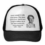 Eleanor Roosevelt Quote 4b Hat