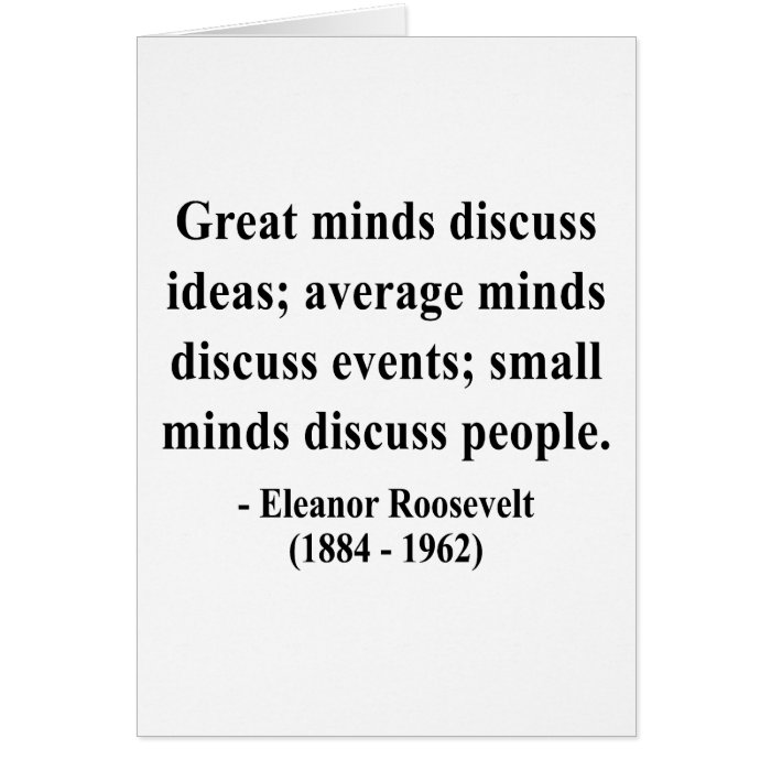 Eleanor Roosevelt Quote 5a Card