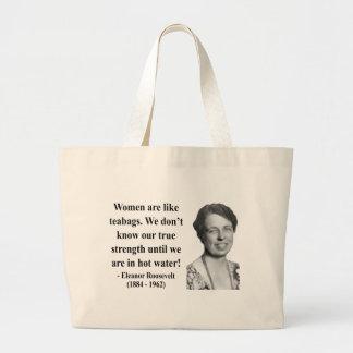 Eleanor Roosevelt Quote 6b Jumbo Tote Bag