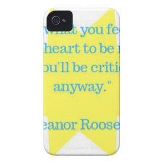 Eleanor Roosevelt quote iPhone 4 Case-Mate Case