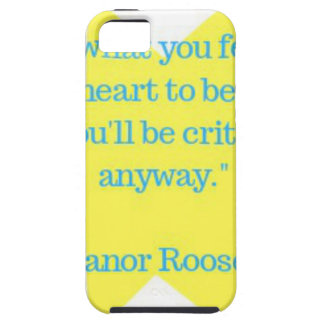 Eleanor Roosevelt quote iPhone SE/5/5s Case
