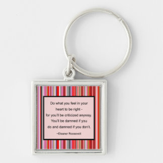 Eleanor Roosevelt Quote Keychain