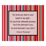 Eleanor Roosevelt Quote Poster