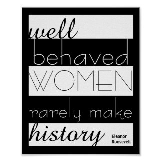 Eleanor Roosevelt quote poster about women