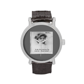 Eleanor Roosevelt & Quote Unisex Watch Wrist Watches