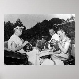 Eleanor Roosevelt y Josip Tito en Brioni Póster