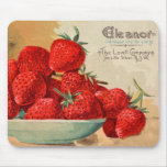 Eleanor Strawberry Seed Packet Mousepad