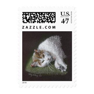 Eleanor the cat stamp